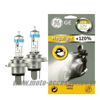 SET ΛΑΜΠΕΣ GENERAL ELECTRIC H4 MEGALIGHT +120%
