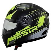 FULL FACE ΚΡΑΝΟΣ STR BULLET MATT BLACK / FLUO